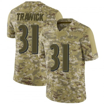 Men's Brynden Trawick Baltimore Ravens Nike Limited 2018 Salute to Service Jersey - Camo