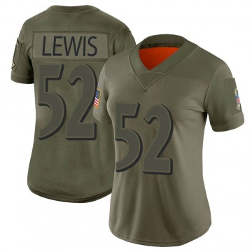Women's Ray Lewis Baltimore Ravens Nike Limited 2019 Salute to Service Jersey - Camo