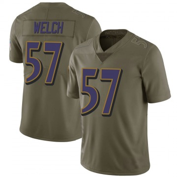 Youth Kristian Welch Baltimore Ravens Nike Limited 2017 Salute to Service Jersey - Green